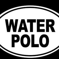 """WATER POLO Euro Oval Solid 6"""" (color: WHITE) Vinyl Decal Window Sticker for Cars, Trucks, Windows, Walls, Laptops, and other stuff."""