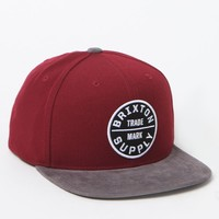 Brixton Oath III Burgundy & Charcoal Snapback Hat - Mens Backpack - Burgundy & Charcoal - One