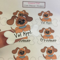 Pet Reminder stickers for your erin condren planner