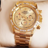 Rolex Women Men Fashion Quartz Watches Wrist Watch