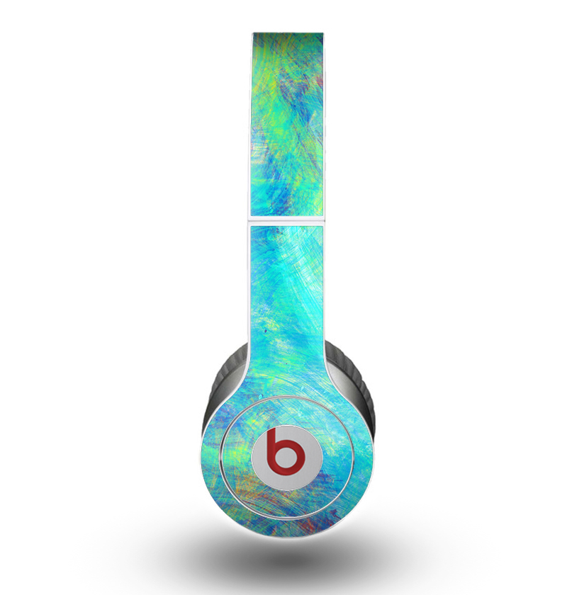 Image of The Vibrant Colored Messy Painted Canvas Skin for the Beats by Dre Original Solo-Solo HD Headphones