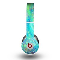 The Vibrant Colored Messy Painted Canvas Skin for the Beats by Dre Original Solo-Solo HD Headphones