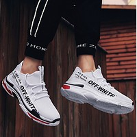 OFF-WHITE 2018 new street fashion white shoes trend breathable sports shoes F0809-1 white