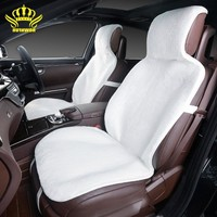 2015For 2 Front Car Seat Covers Faux Fur Cute Car Interior Accessories Cushion Cover Styling
