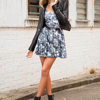 Snakes In A Garden Scoop Skater Dress