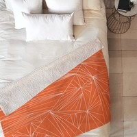 Vy La Tech It Out Orange Fleece Throw Blanket