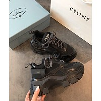 Prada Block Sneakers Black