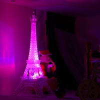 Romantic Eiffel Tower Color Changing LED Night Light Bedroom Home Decoration Worldwide Store
