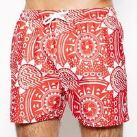 French Connection Tribal Swim Shorts