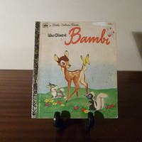 "Vintage 1979 Walt Disney's ""Bambi"" - A little Golden Book / Kids Book / A Young Deer / Thumper"