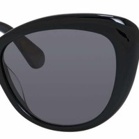 Kate Spade - Emmalynn S Black Sunglasses / Gray Polarized Lenses