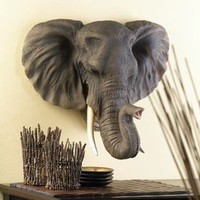 Lifelike Noble Elephant Wall Decor