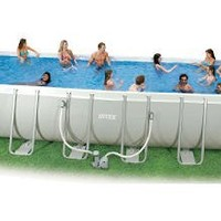 Intex Ultra Frame 18-by-9-Foot-by-52-Inch Rectangular Pool Set