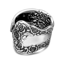 Silver Spoon Adjustable Ring - Lady Helen