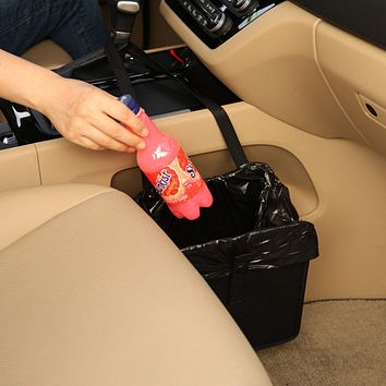 KMMOTORS Jopps Foldable Car Garbage Can Patented Car Wastebasket Comfortable Multifuntional Artificial Leather and Oxford Clothes Car Organizer Enough Storage for Garbage 1. Jopps Car Garbage Can