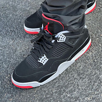 Nike Air Jordan 4 Retro Bred 2019 Basketball Shoes Sneakers