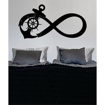 Anchor Infinity Sign Nautical Ocean Beach Decal Sticker Wall Vinyl Art Decor