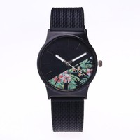 Newly Design Womens Fashion Picture Design Silicone Band Analog Alloy Quartz Wrist Watch lady dress watches Dropshipping Z20