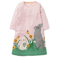 Princess Dress Baby Girls Dresses with Animal Appliques 100% Cotton Casual Tunic Children Dress Kids Clothes
