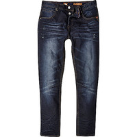 River Island MensDark wash Tokyo Laundry distressed jeans