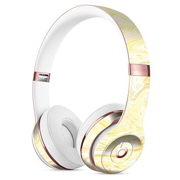 Yellow Slate Marble Surface V21 Full-Body Skin Kit for the Beats by Dre Solo 3 Wireless Headphones