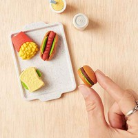 Fast Food Puzzle Eraser Set