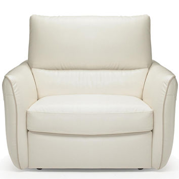 Versa Power Reclining Leather Chair by Natuzzi Editions