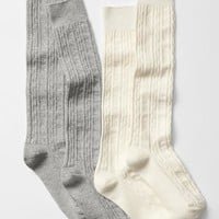 Gap Girls Cable Over The Knee Socks 2 Pack