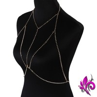 Across My Chest Body Chain Necklace