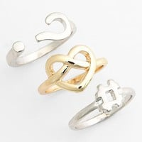 Leith Stackable Rings (Set of 3) | Nordstrom
