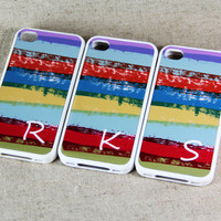 Custom Letter Stylish Abstract iPhone 4S & 4 Case,Rubber Material Full Protection