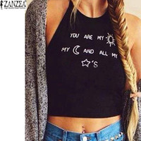 You Are All My ✩'s Fun Sleveless Crop Top