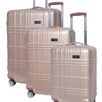 Jessica Simpson Jewel Plaid Spinner Hardside Luggage Collection - Gold