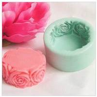 The cylindrical silicone soap soap mold ,Soap Candles food baking molds.