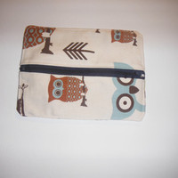 Owl Zippered Pencil Pouch
