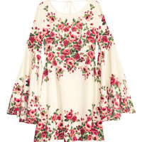 H&M Dress with Trumpet Sleeves $34.99