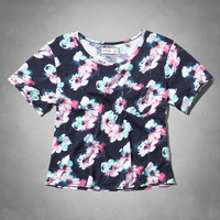 floral easy fit tee