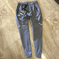 Adidas summer new fashion letter print men pants trousers Gray