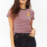 Winnie the Pooh Patch Striped Tee