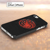 game of thrones Targaryen Design for iPod Touch 5,iPhone 4/4s,5, 5s, 5c Case, Samsung Galaxy S3, S4 Case