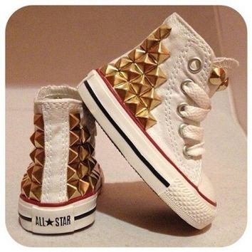 Gold Studded Converse ( Size 1y - 2.5y )