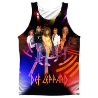 DEF LEPPARD/ON STAGE-ADULT 100% POLY TANK TOP-WHITE