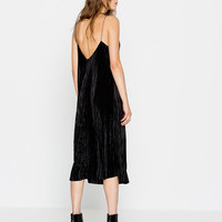 MIDI PLEATED DRESS - NEW PRODUCTS - WOMAN - PULL&BEAR United Kingdom