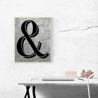 Ampersand print - Industrial decor - And print - Ampersand sign - And sign - Industrial print - Modern home decor - Modernist wall art