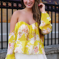 Like a Melody Crop Top - Yellow