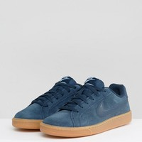 Nike Court Royale Trainers In Navy Suede at asos.com