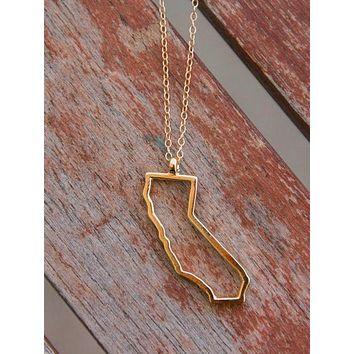 California Outline Necklace