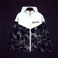 Camouflage Leaf Couple Windbreaker [415610208292]