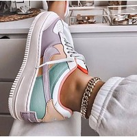 Samplefine2 Nike WMNS Air Force 1 Shadow Tropical Twist Low Fashion Women Casual Sport Running Shoes Sneakers