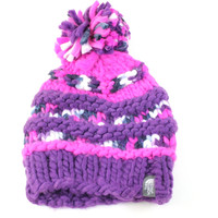 The North Face Women's Nanny Knit Pom Gravity Purple/Pink Beanie Hat